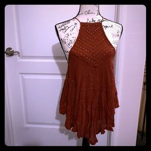 Free people studded halter blouse